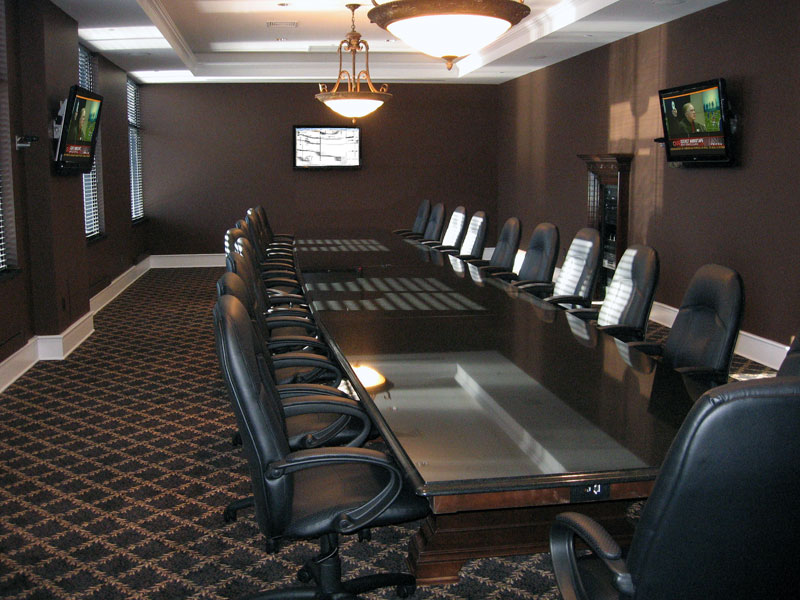 Customized Conference Room With Audio Video Controls